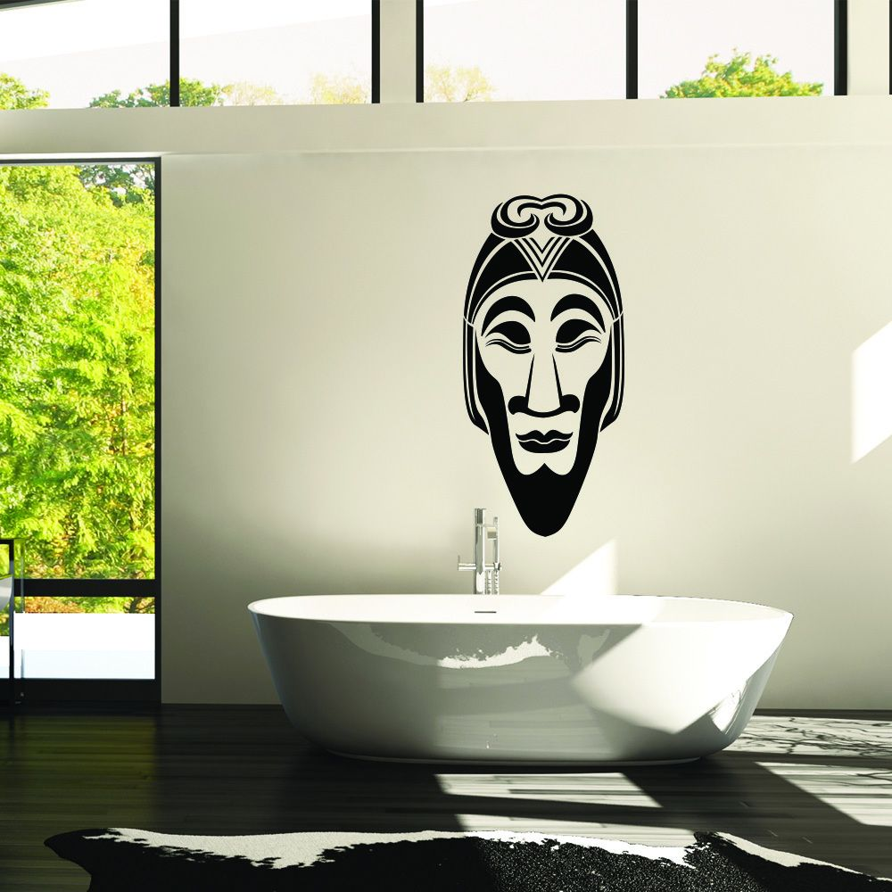 Style & Apply African Mask II Removable Wall Decal