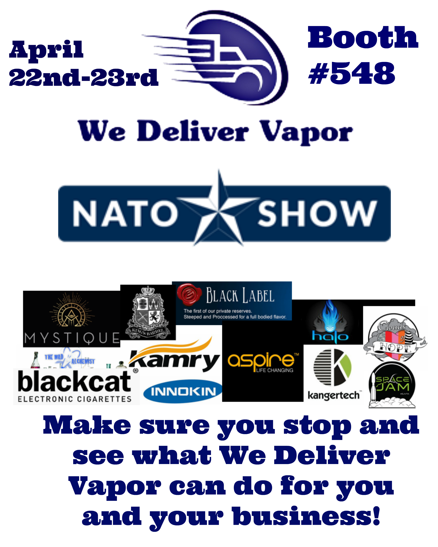 #NATO show! #Vegas bound... Come see me! #Vapor #Vape #Wholesale ..