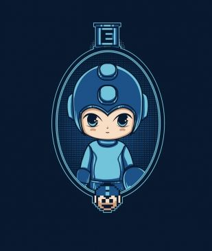 6fb5d8499 Megaman Portrait Geek Art, Mens Tees, T Shirt Websites, Mega Man, Shirt