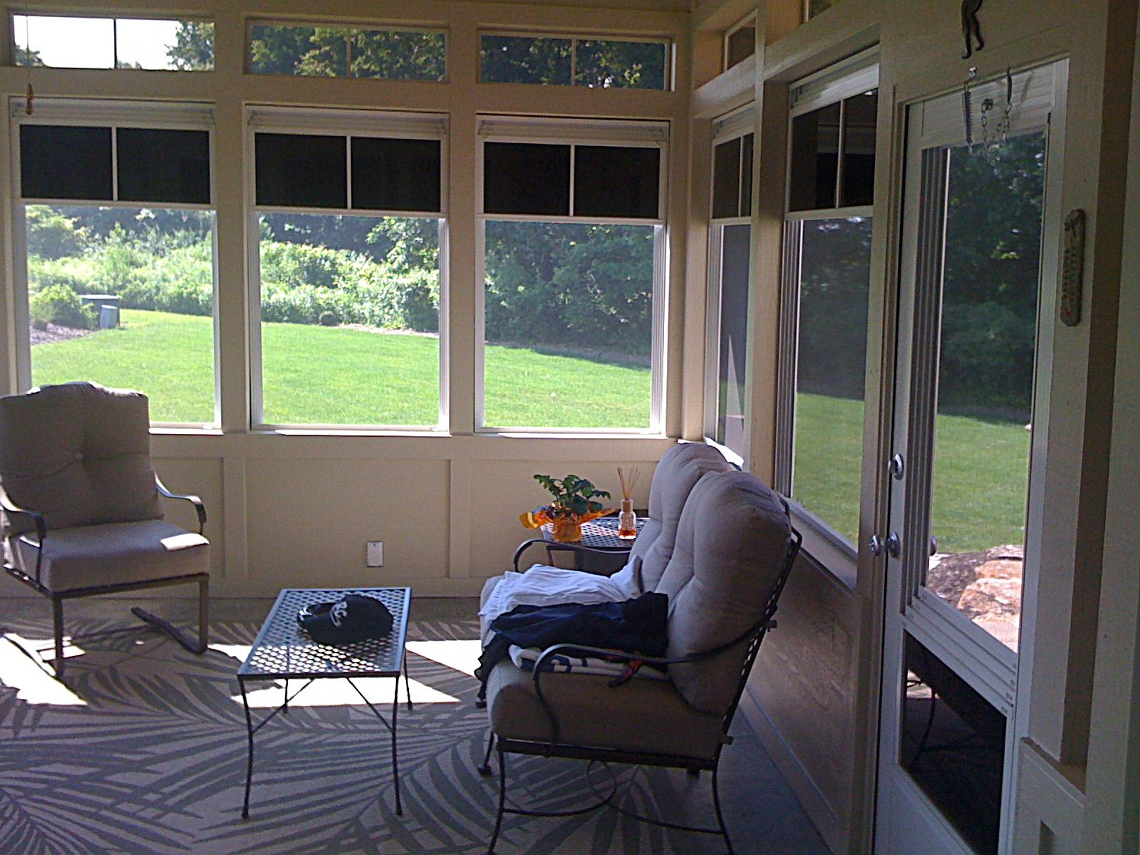 Converting back porch to florida room screen porch is quickly and easily converted to an air tight florida