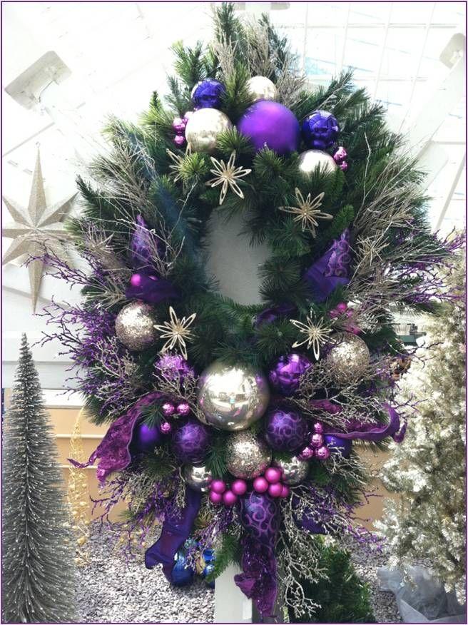 """""""Purple Platinum"""" Wreath"""