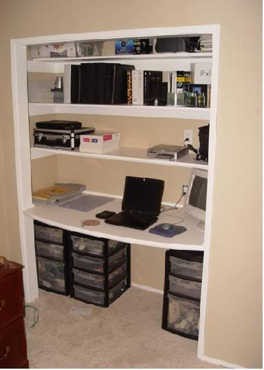 Desk Built Into Closet desk in closetlove the idea but i am not sure who has closet