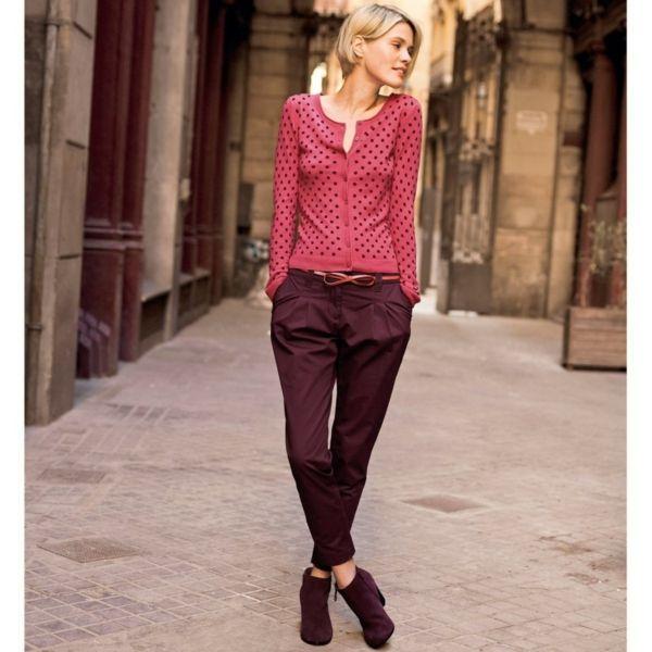 mode femme des id es simples pour rester jeune look pantalon bordeaux pinterest pantalon. Black Bedroom Furniture Sets. Home Design Ideas