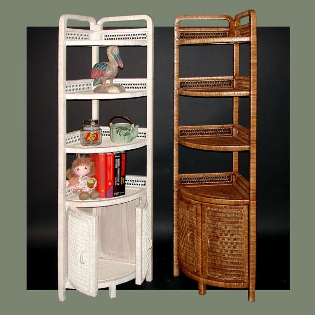 CORNER COFFEE BAR? cabinet door shelf | Wicker Standing Corner ...