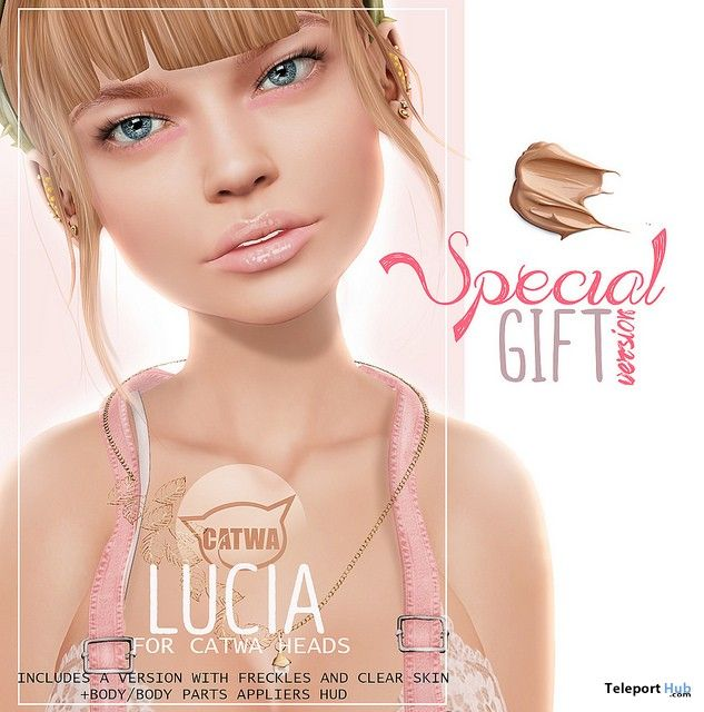 Lucia Skin For Catwa Head with Mesh Body Appliers Gift by PUMEC