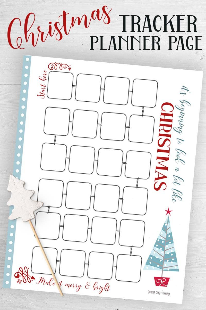 Free Printable Christmas Countdown Tracker Planner Page Happy Planner Free Printable Christmas Planner Printables Free Happy Planner Printables