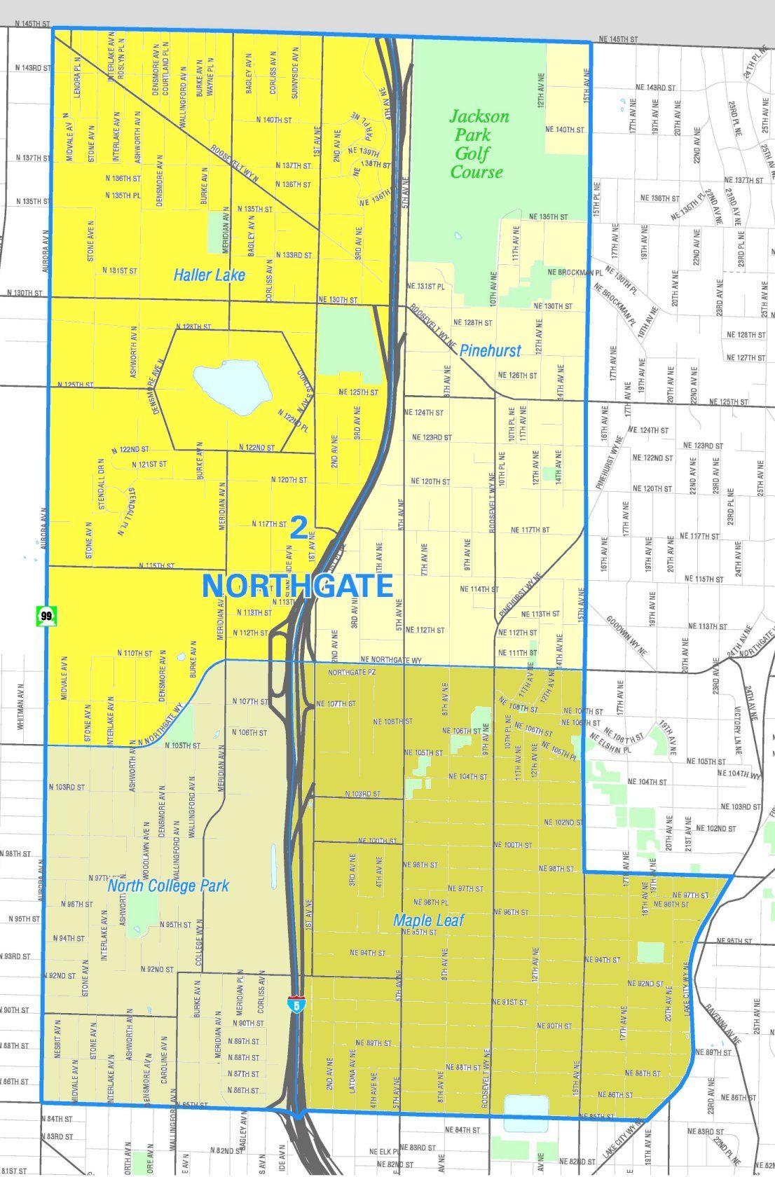 Seattle City Clerks Office Neighborhood Map Atlas Seattle