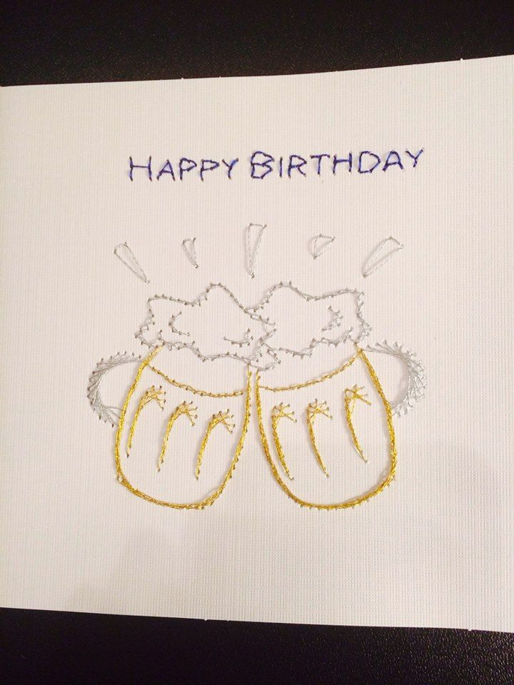 Happy birthday Beer card for your guy!