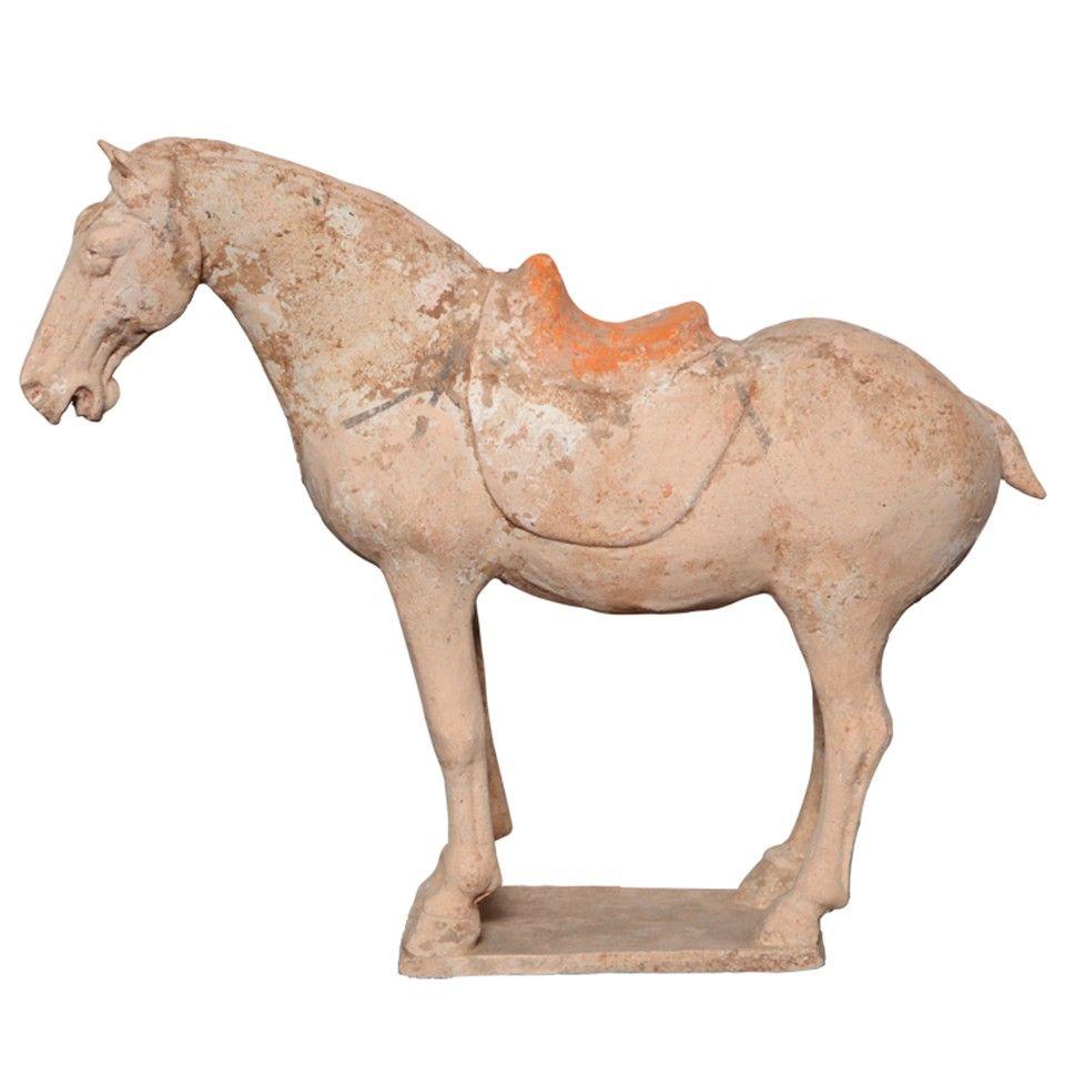 Antique Chinese Terra Cotta Horse Figure