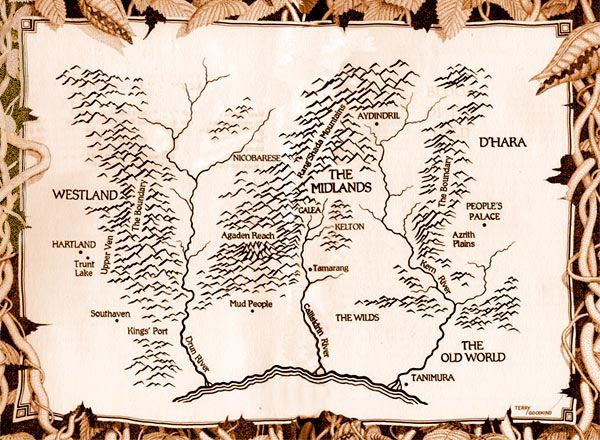 sword of truth world map New World Sword Of Truth Wiki Terry Goodkind Wizard S First