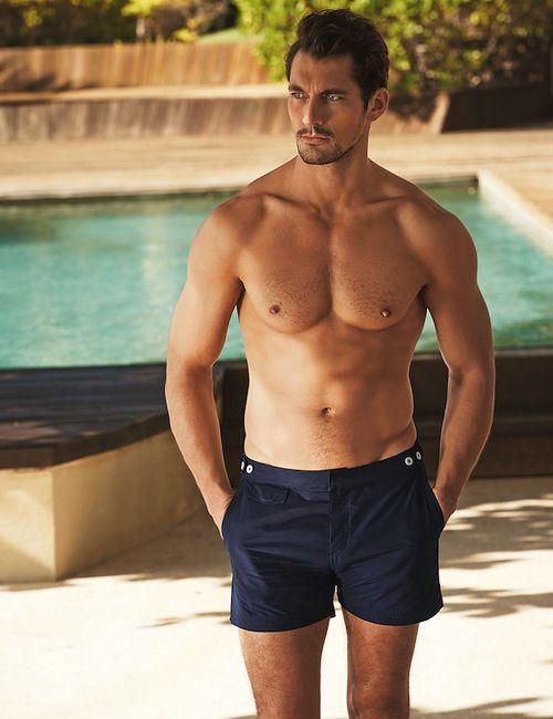 69db667986 David Gandy Body, David James Gandy, David Gandy Style, Mens Swim Shorts,