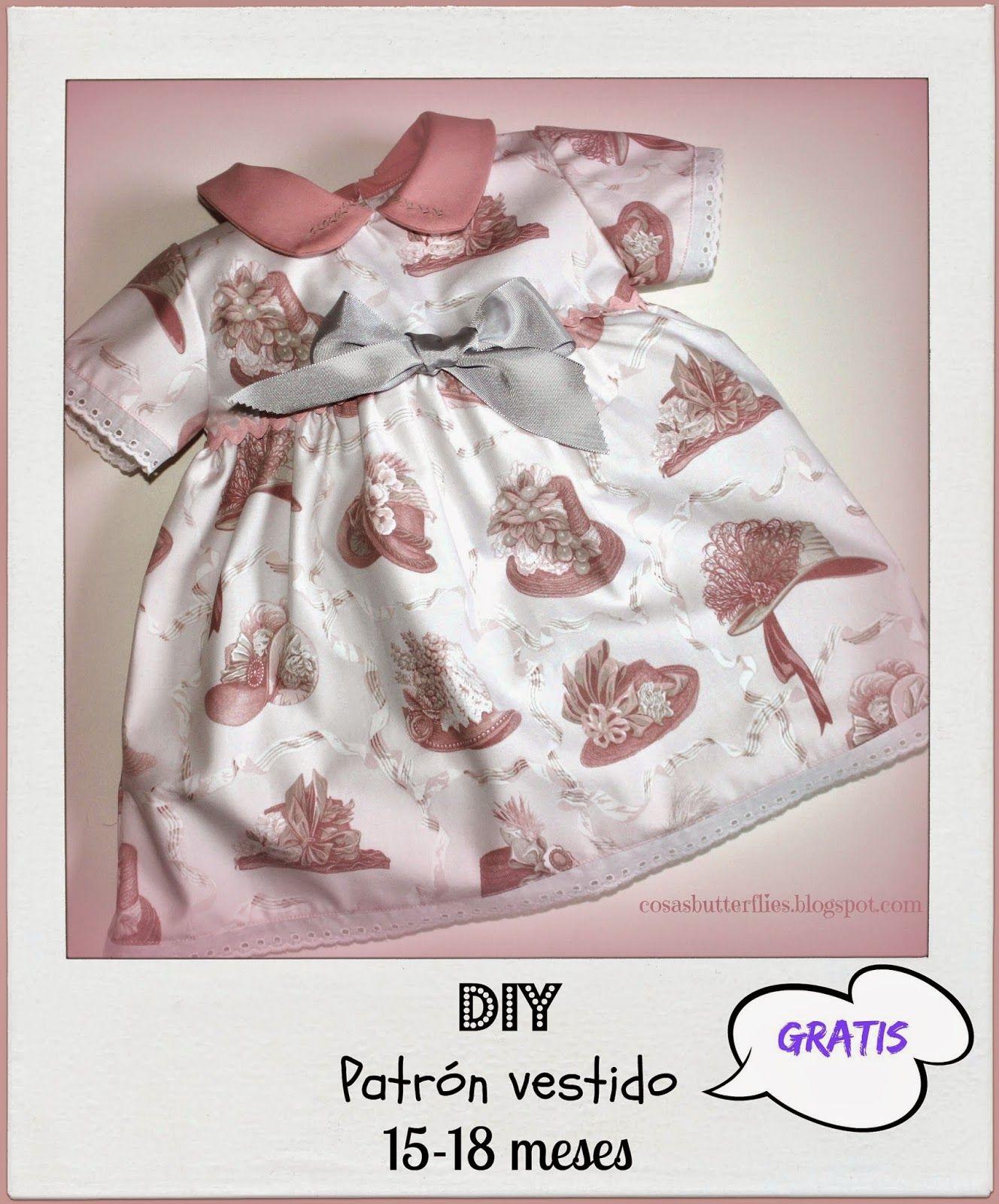 Patrón gratis vestido niña 15-18 meses | bribri | Baby sewing ...