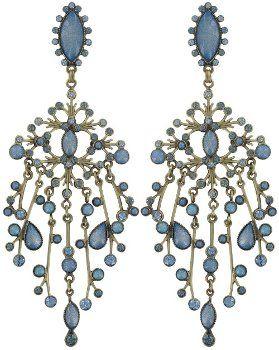 Bild für Ohrstecker baumelnd Filigree blau