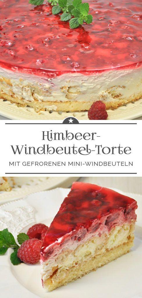 Himbeer-Windbeutel-Torte - Eine kleine Prise Anna