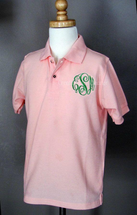 Girls Monogrammed Polo Shirt Girls Polo Shirt Girls Monogrammed