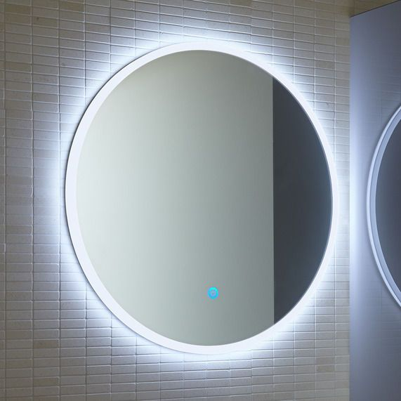 Atmos Edge Round Illuminated Mirror Bathstore Round Mirror Bathroom Bathroom Mirror Lights Led Mirror Bathroom