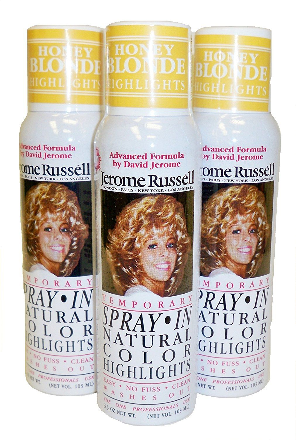 Jerome Russell Temporary Hair Color Spray Highlights Shampoos Out