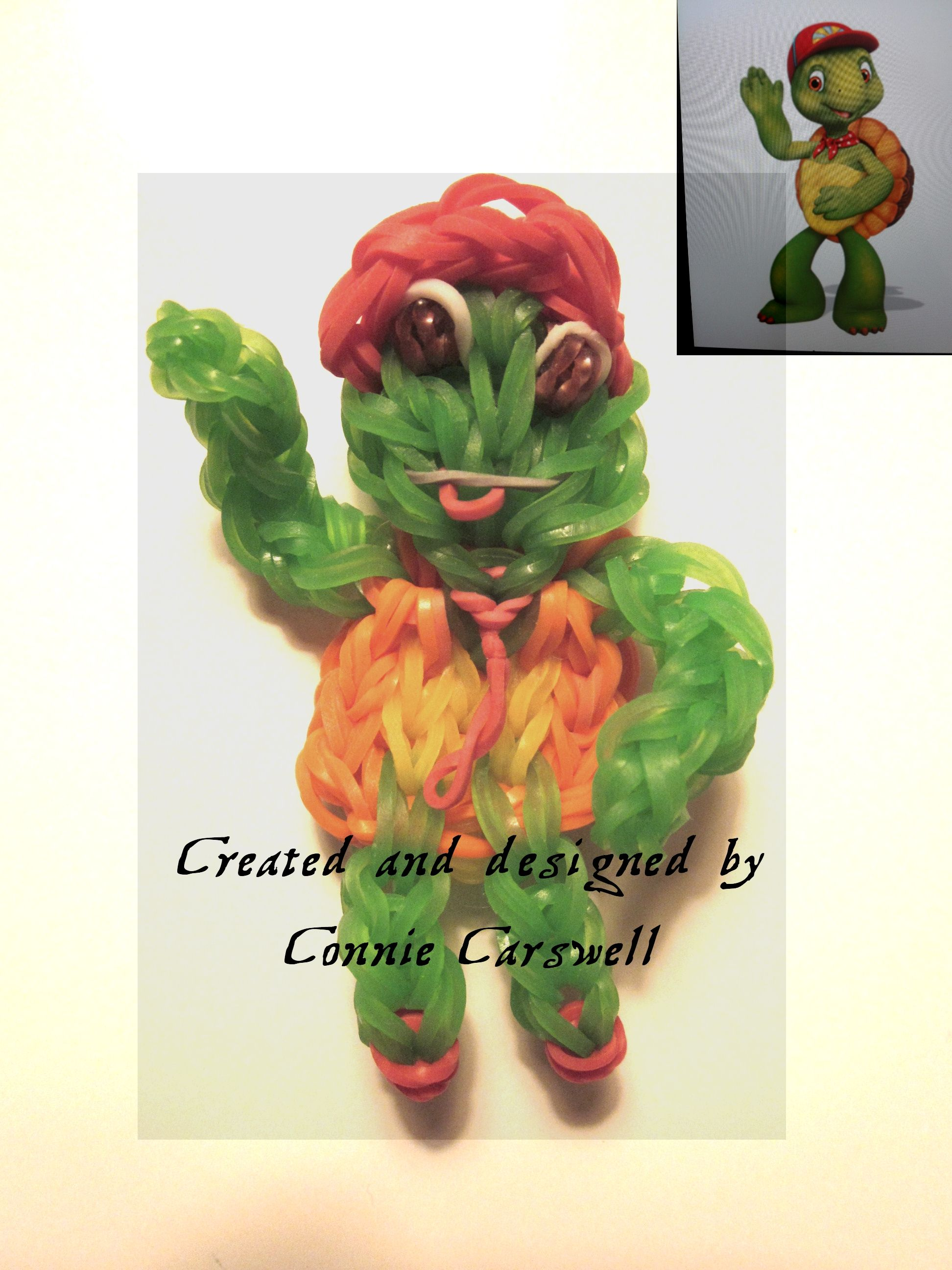 """Rainbow Loom Charm Character - Franklin (Franklin and Friends) (the """"Friends"""" are coming soon)!"""