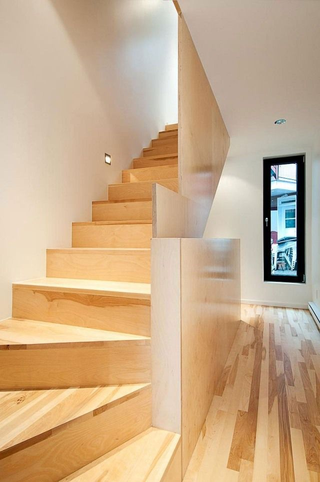 Massivholztreppe Stufen Laminat Ideen Design-Geländer | Treppen1 ...