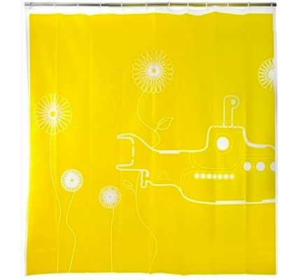 Shower Curtains Make Your Bathroom Shine Without Paint Yellow