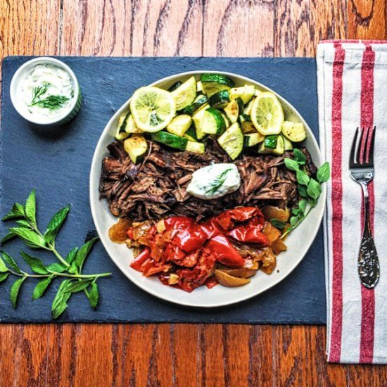 Greek pot roast with tzatziki foodgawker recipes pinterest slow cooked melt in your mouth pot roast gets an upgrade marinade in greek dressing top with tzatziki sauce find this pin and more on foodgawker recipes forumfinder Images