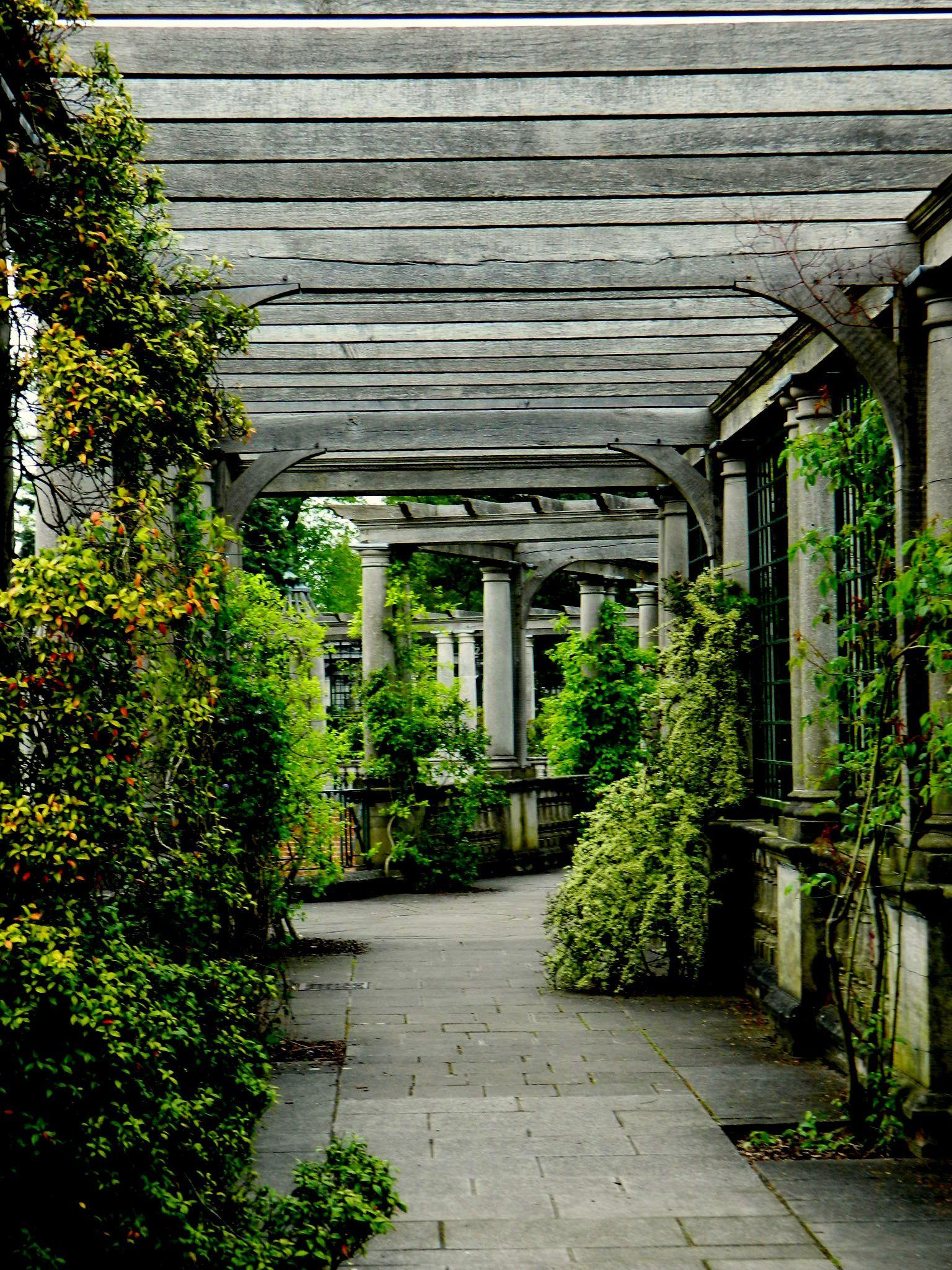 pergola corridor, photo by PH Morton Garden on a hill