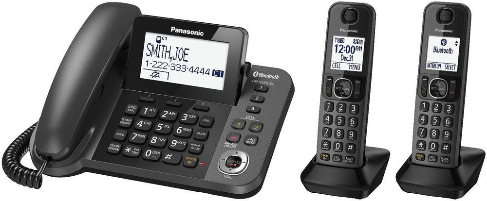 Panasonic Kx Tgf382m Link2cell Bluetooth Corded Cordless 2hs Phone Panasonic Cordless Phone Phone Corded Phone