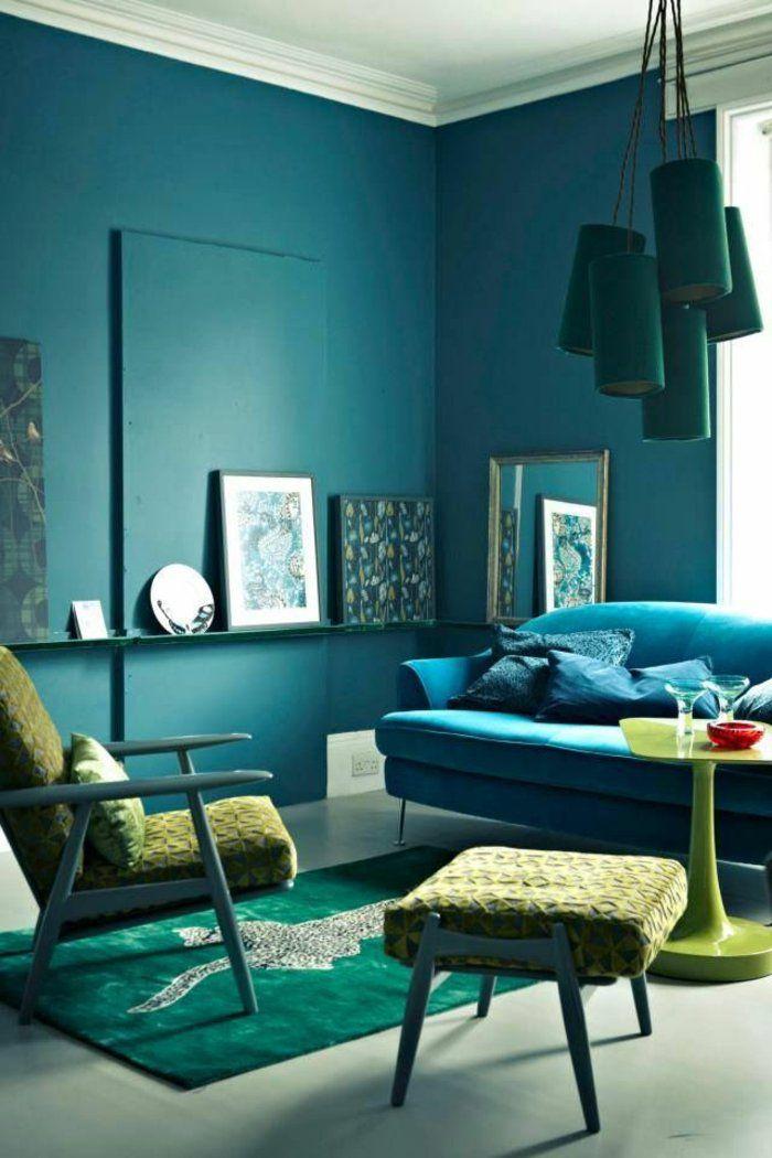 ▷ 1001+ idées pour la décoration d\u0027une chambre bleu paon
