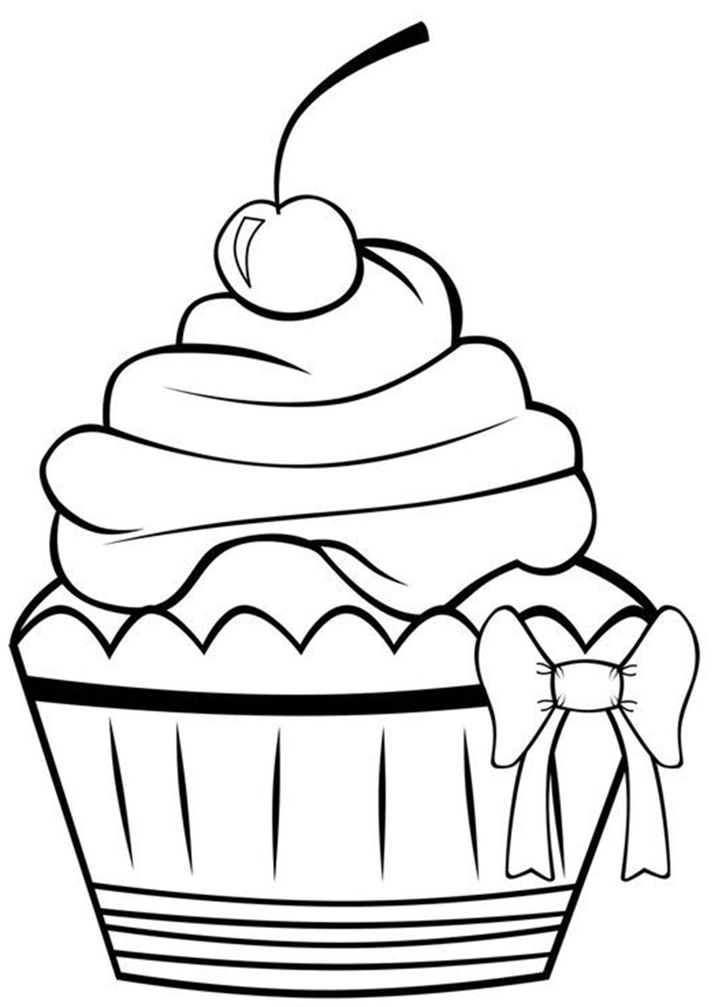 Free Easy To Print Cupcake Coloring Pages Cupcake Coloring