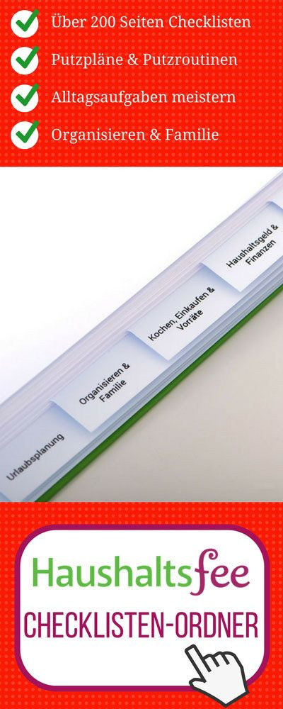 Tolle Listen Um Den Haushalt Zu Organisieren Haushaltsfee Checklisten Ordner Mit Uber 200 Seiten Inhalt Haushalts Ordner Haushaltsordner Haushaltsfee