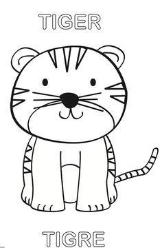 Pin De Ada Gomez En Tigre Para Colorear Con Imagenes Tigre