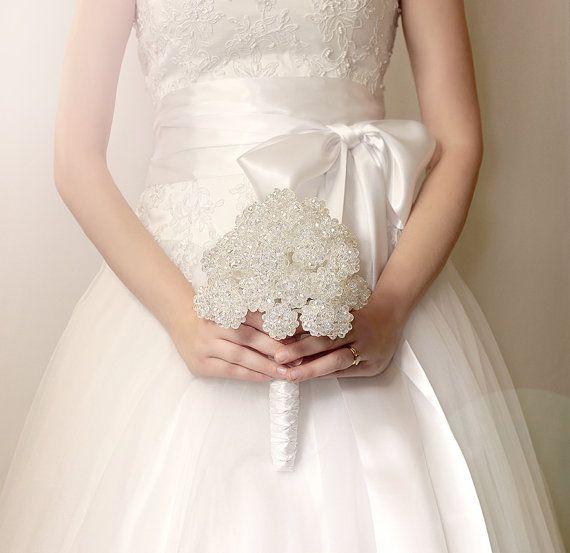 Wedding Flowers  Crystal Bridal Bouquet  by BridalBouquetsbyKy, $350.00