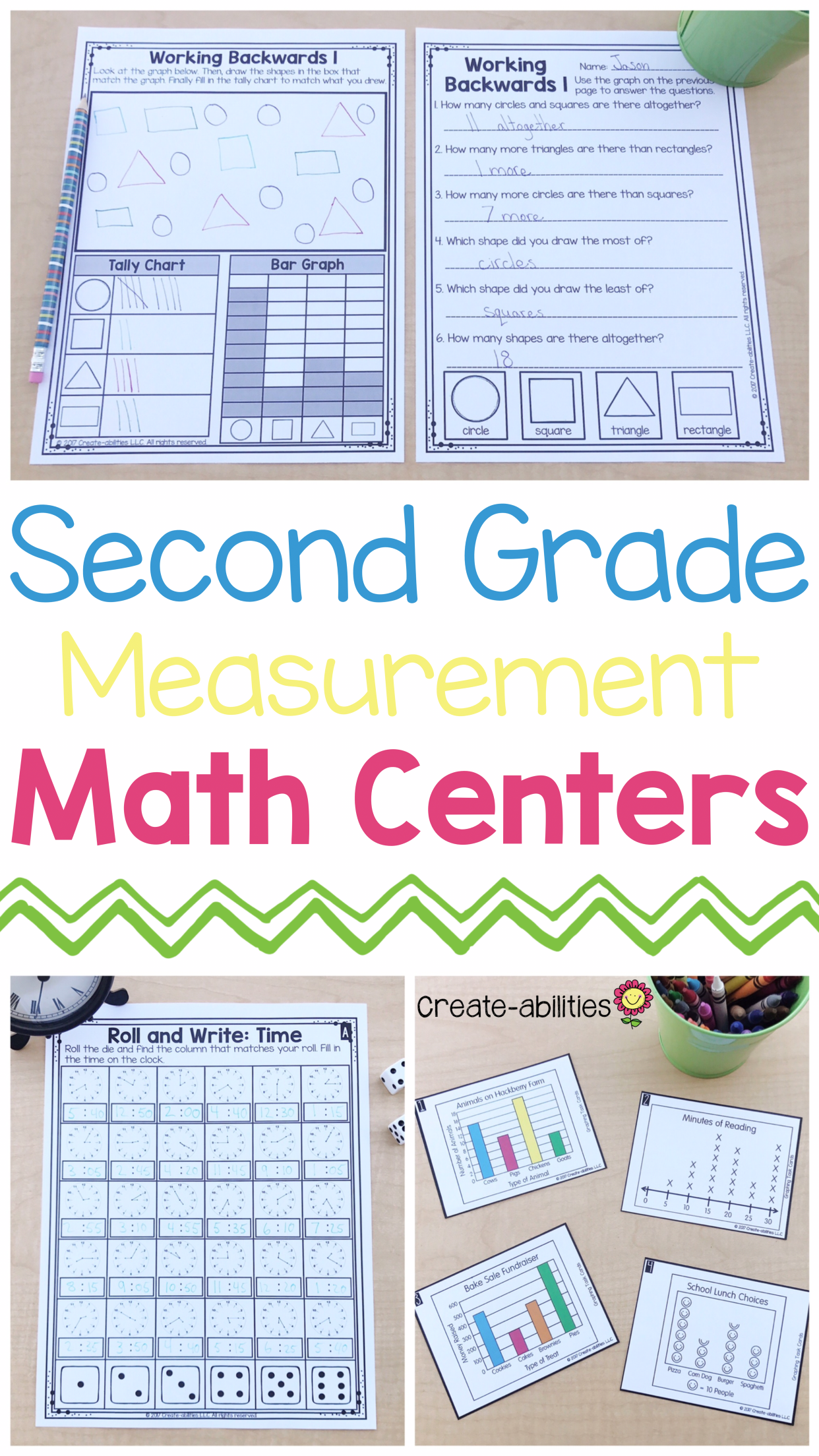 2nd Grade Measurement Math Centers