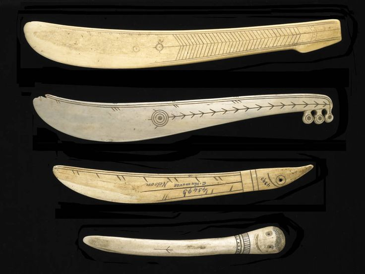 Igloo Snow Knife or Pana. Smaller knives were often called Story Knife & Scrimshawed. Snow knives were made from most any available material that ranged from bone, wood, ivory and metal.