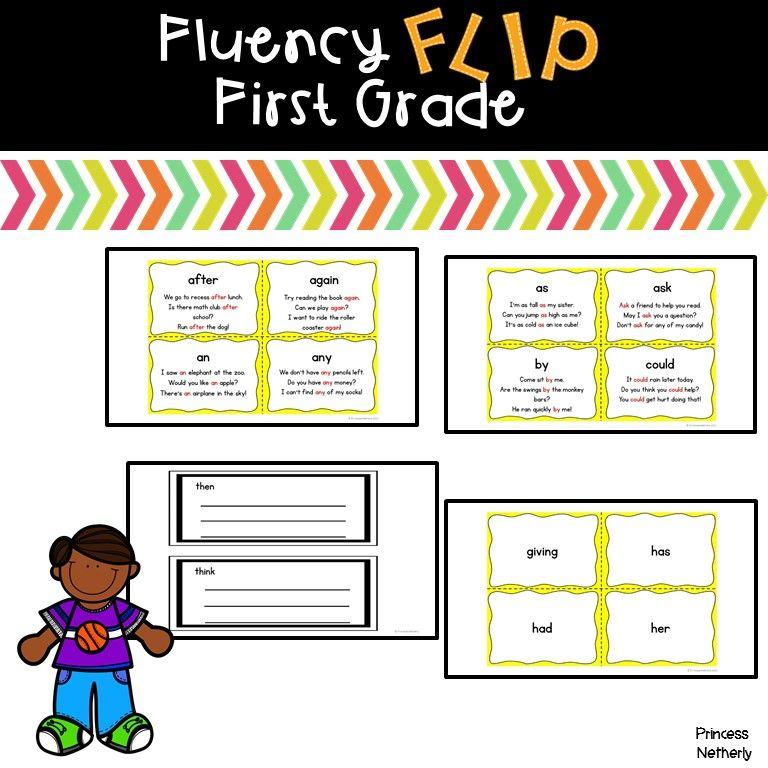 Fluency Flip First Grade Words First grade words, First