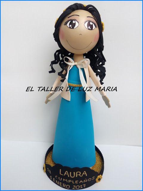 EL TALLER DE LUZ MARIA: FOFUCHA ELEGANTE LAURA