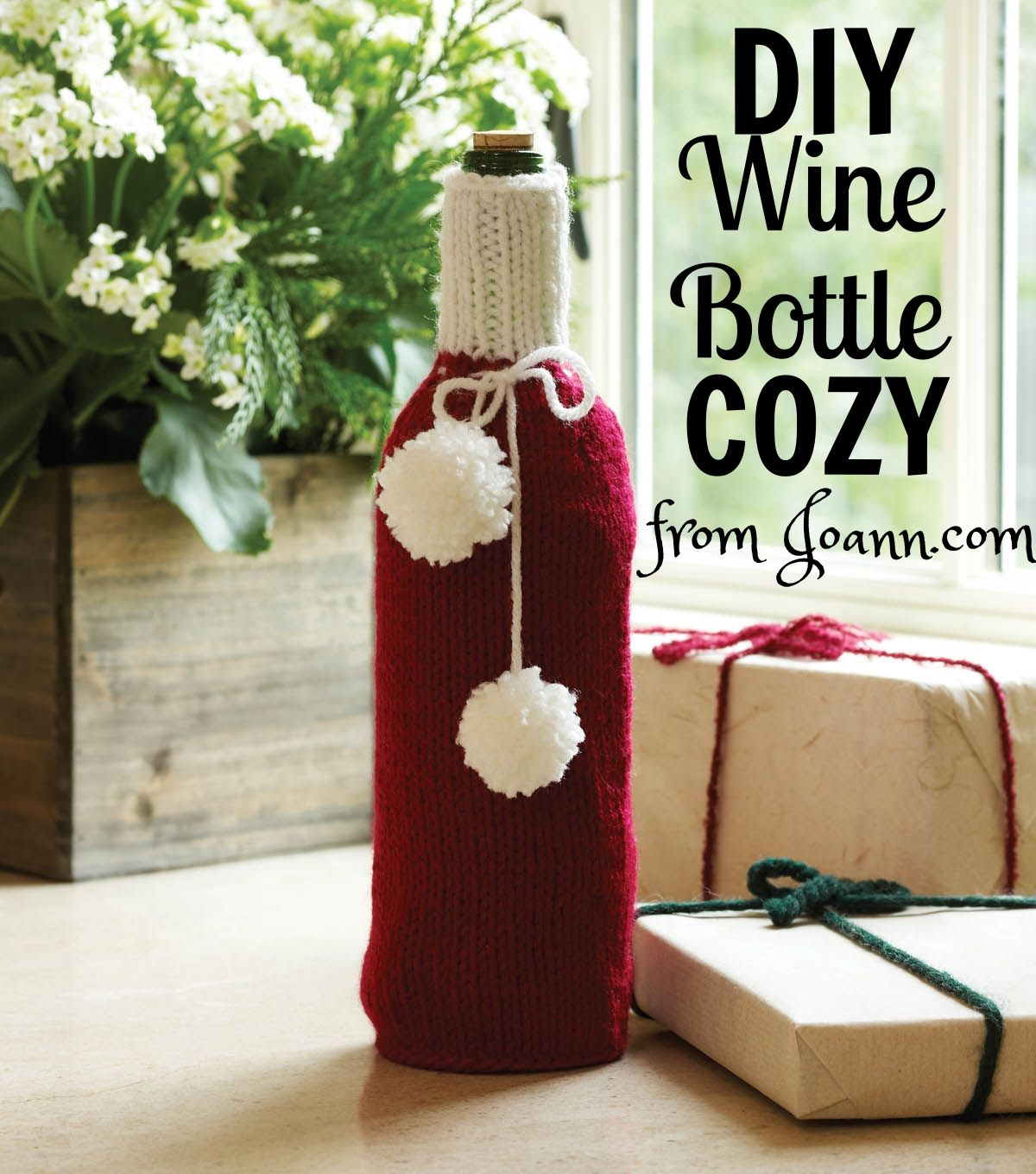 FREE PATTERN! Make your own DIY Wine Bottle Cozy with this free ...
