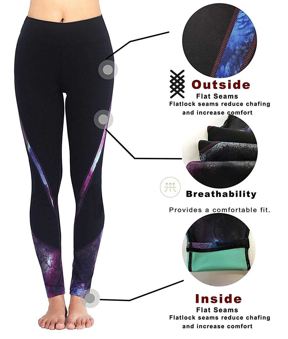 ee8b799600b59 Sugar Pocket Womens Athletic Pants Workout Yoga Leggings Fitness Tights -  Available in 16 different colour patterns. Click the picture to see more  details.