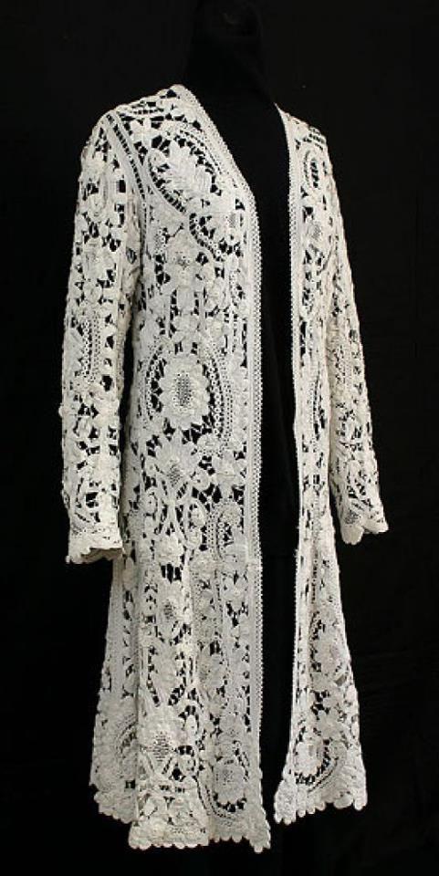 Irish Lace Lace Pinterest Irish Lace Crochet And Crochet Coat