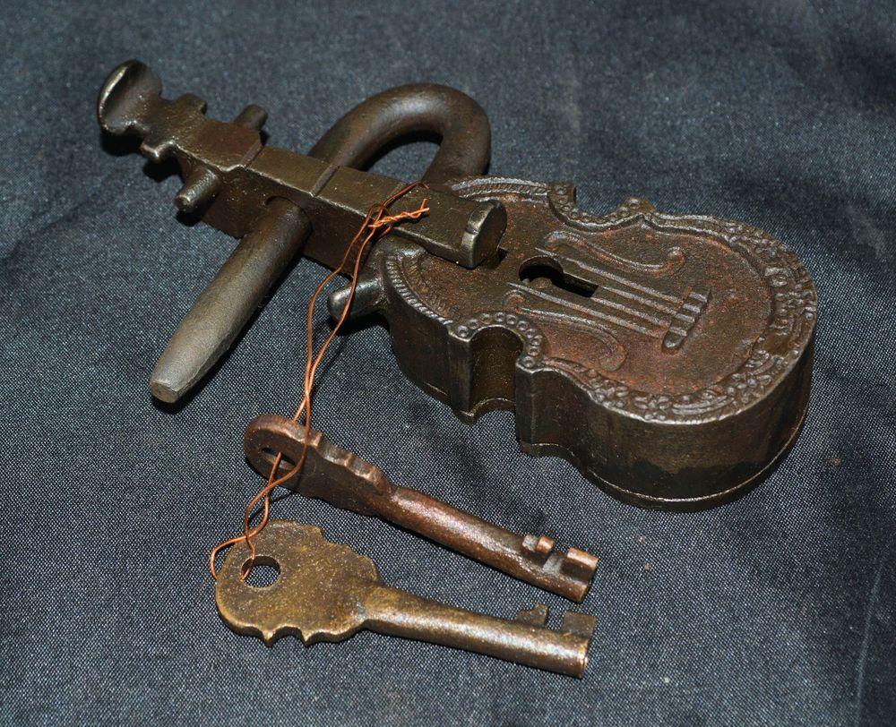 Details About Large Antique Style Cast Iron Amp Brass Violin