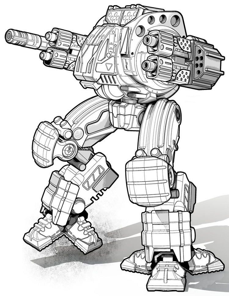 War Robots Coloring Pages Bugs Bunny Drawing Coloring Pages Bunny Drawing