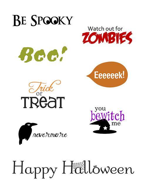 Freebie: Printable Halloween Sentiments · Stamping