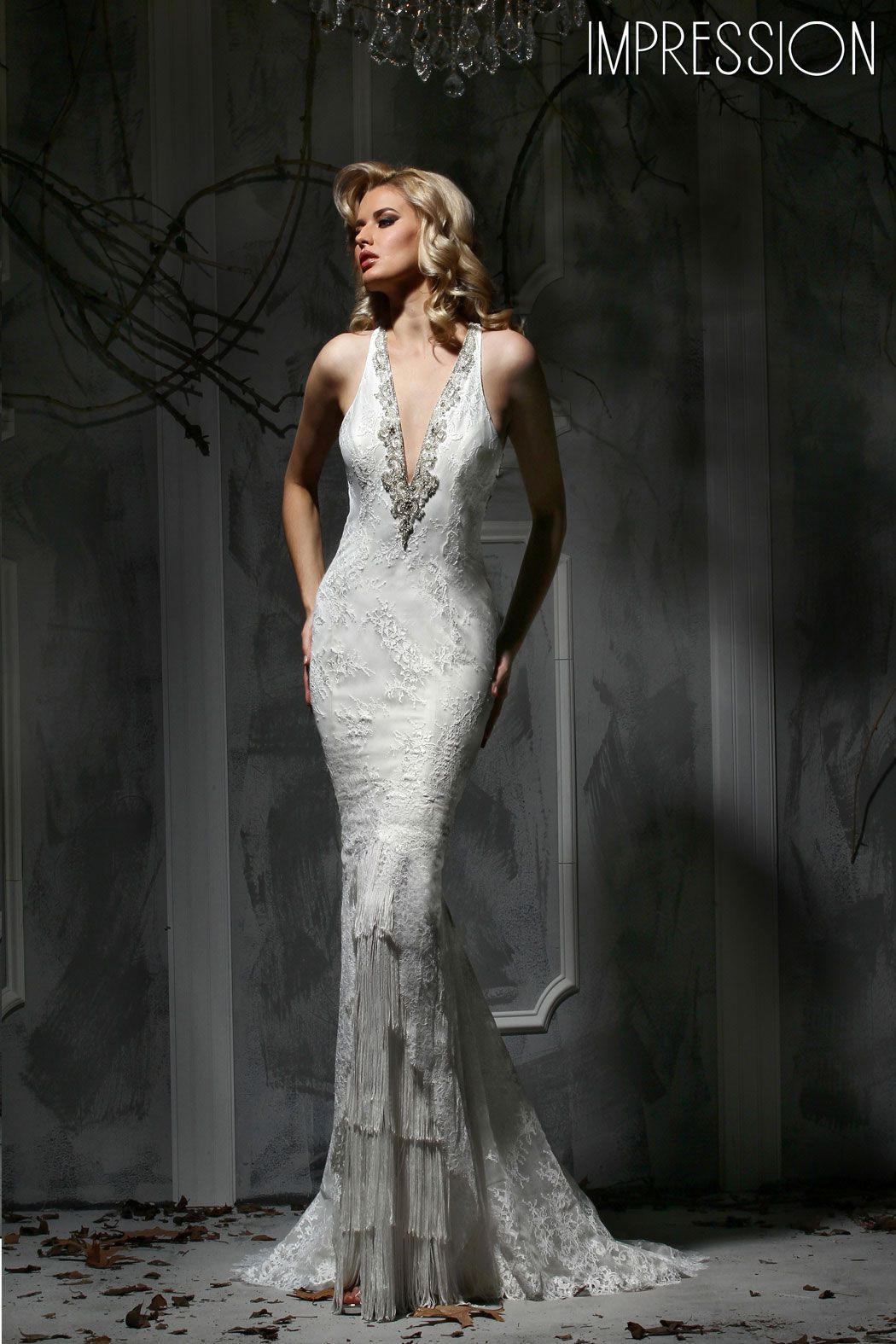 Cut out lace wedding dress  This stunning wedding dress in lace brings the ucva va voomud factor