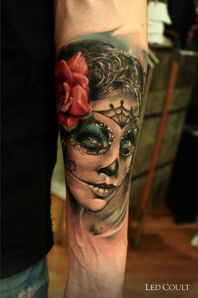 sugar skull girl tattoo pinterest tatuajes. Black Bedroom Furniture Sets. Home Design Ideas