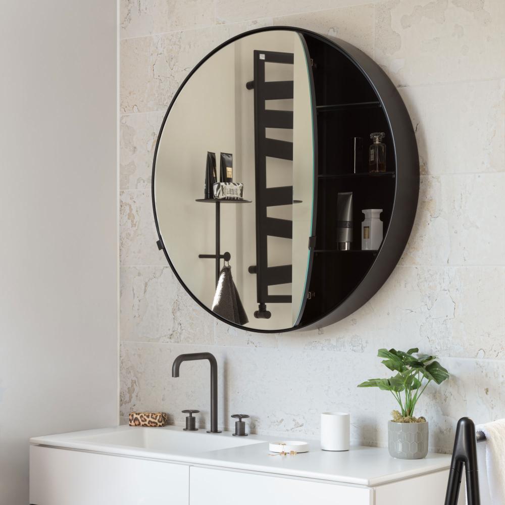 I Cantini Round Box Stylish Bathroom Bathroom Mirror Round Mirror Bathroom