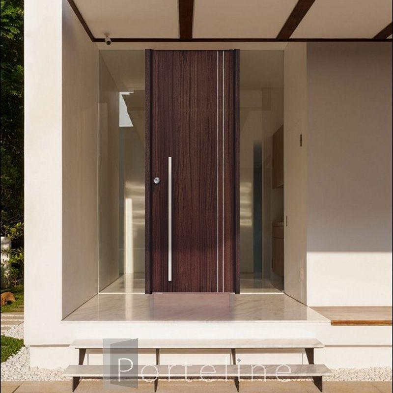 Puerta moderna de entrada en madera modelo ibiza puertas for Puertas de entrada de madera modernas
