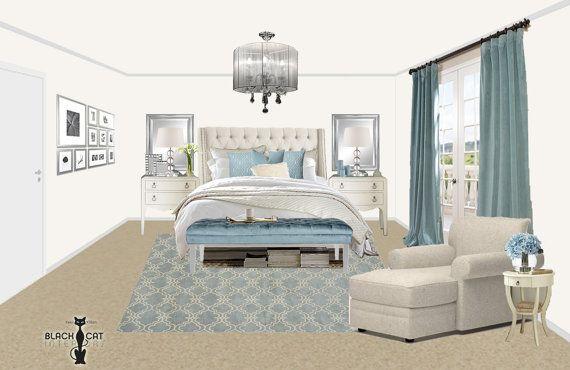 Online Bedroom Interior Design Package Coastal