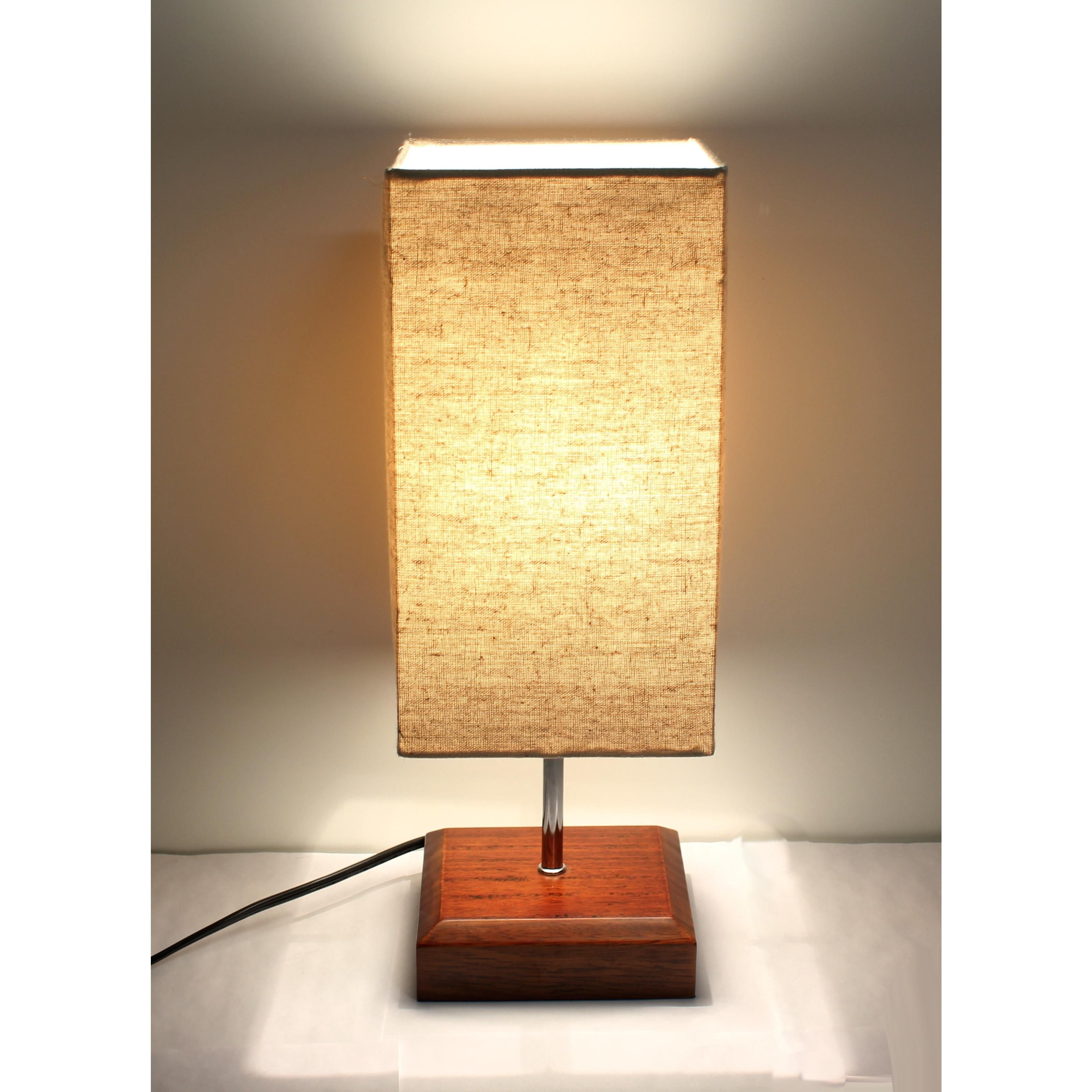 17 Square Wooden Minimalist Table Lamp Extra 10 Off When You Spend 15 Using Code Summer10 Rectangle Lamp Shade Wooden Table Lamps Table Lamp