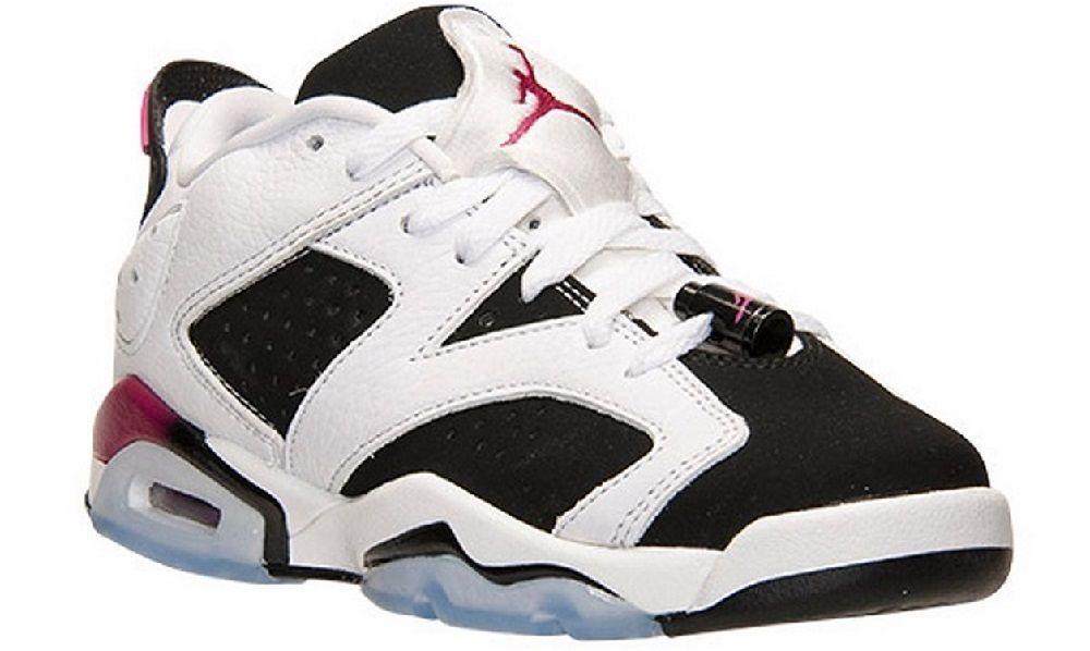 b08de80d1c476b Nike Youth Air Jordan 6 Retro Low GG Sport Fuchsia Basketball Shoes 768878  107…