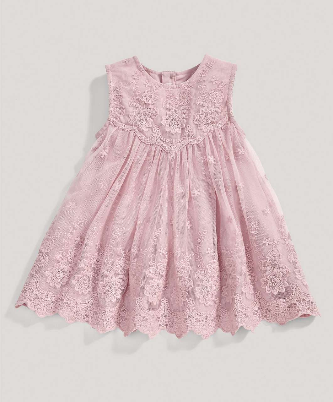 Girls Pink Lace Dress Special Occasionchristening Mamas